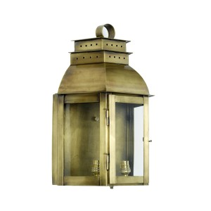 'Portsmouth' Wall Lantern Finished in Antique Brass