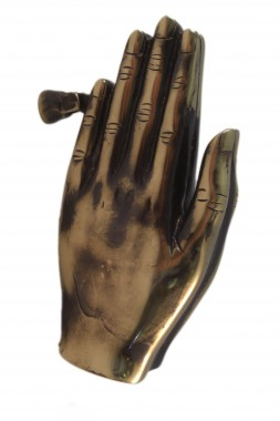 Power of Prayer Praying Antique Brass Hands Knocker