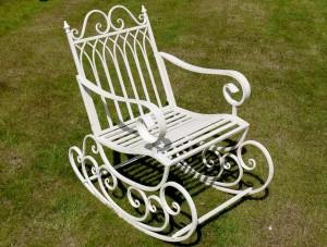 """""""Prestwich Avenue"""" Wrought Iron Garden Rocking Chair"""