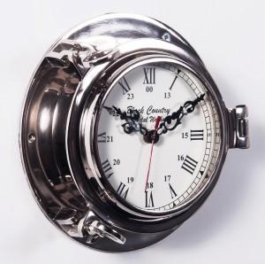 """Quartermaster "" Ships ""Bulkhead"" Clock"