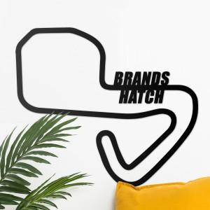 Brands Hatch Motor Racing Circuit Wall Art on White Wall