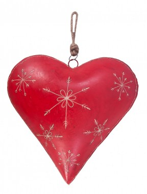 """Hand Painted """"Vero Amore"""" Heart Decoration"""