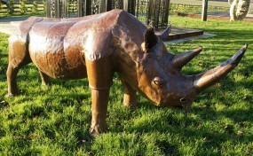"""Remy"" Rhinoceros Garden Sculpture"