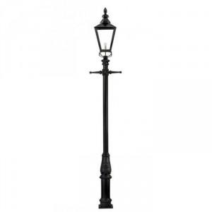 Rochester High Mast Column And Lantern with a Black Lantern