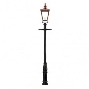 Rochester High Mast Column And Lantern with a Copper Lantern