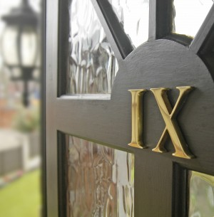 "3"" Polished Brass Roman Numerals - Face fix"