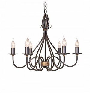 """Audstone Towers"" Traditional Six Light Chandelier"