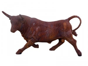 Rustic Rodeo Cast Iron Bull