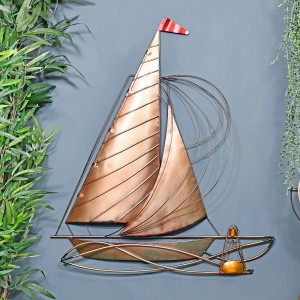 Rustic Sailing Boat Wall Art in Situ in the Home