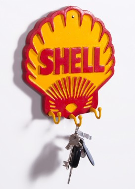 """Royal Dutch Shell"" petrol hook and key rack"
