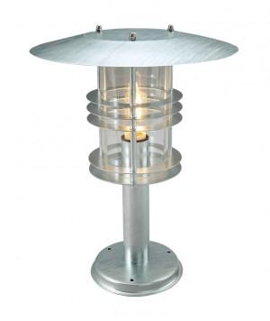 Silver Contemporary Industrial Pillar Light 47cm