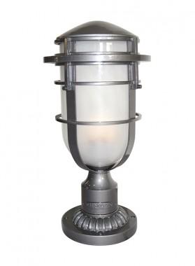 Silver Nautical Contemporary Pillar Light 58cm