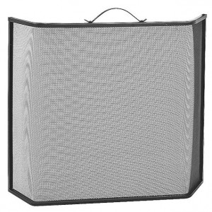 Single Panel Fire Spark Guard with Extended Sides