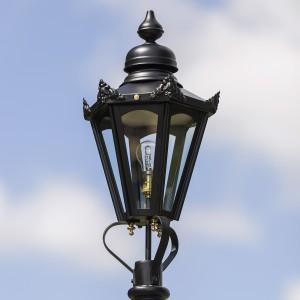 Small Black Hexagonal Lamp Post Top