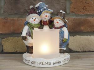 Snowmen Candle Holder