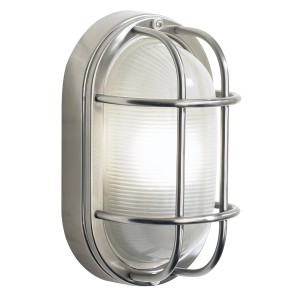 Stainless Steel Oval Bulk Head Style Wall Light