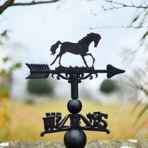 Cast Iron Horse Weathervane Topper