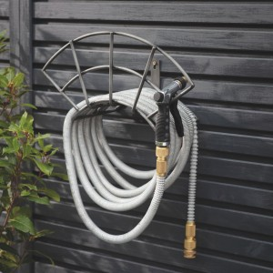 """Steel """"Arch"""" Wall Mounted Hose Holder in Situ"""