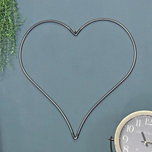 Heart Hanging Steel Wall Art in Use Indoors