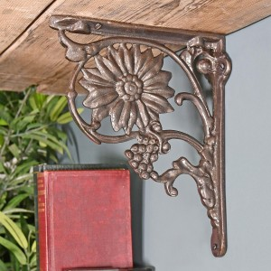 Sunflower Iron Shelf Bracket in Situ