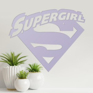 'Supergirl' Wall Art on a Cream Wall
