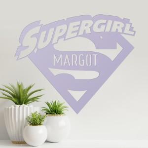 'Supergirl' Personalised Wall Art in Situ in the Living Room