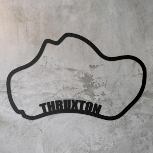 Thruxton Race Track Wall Art on a Rustic Grey Wall