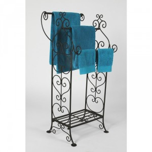 Delphi Hearts Towel Rail Stand  With Hearts