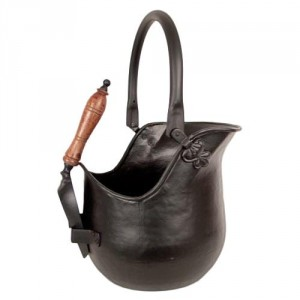 Traditional Iron Traditional Coal Bucket & Shovel in Black