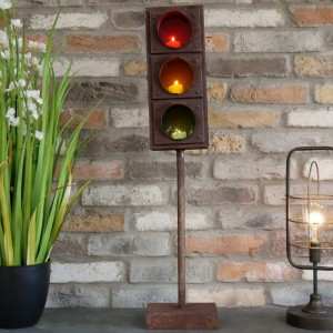 """""""Traffic Light"""" Free Standing Candle Holder"""