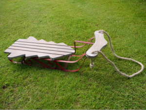 Christmas Tree Wooden Sleigh
