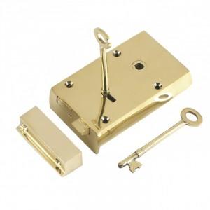 Polished Brass Large rim Lock