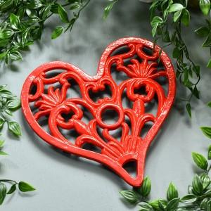 Trivet - Heavy Duty V3 Heart - Red