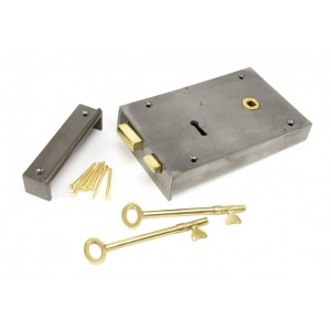 Iron Rim Lock Right Hand - Large