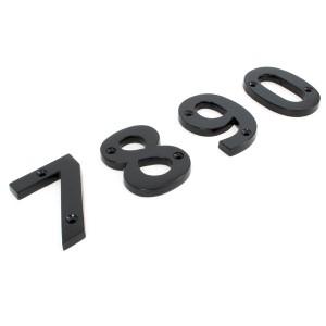 "Black Iron House Numerals - 3"""