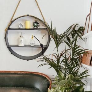 Rope Hanging Circular Shelf