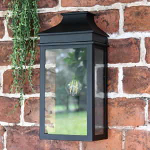 Black Traditional Flush Wall Light
