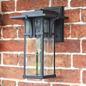 Art Deco Antique Bronze Large Wall Lantern