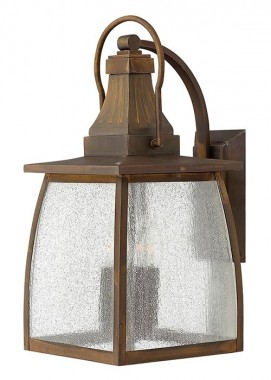"""Augusta"" Large Solid Brass Wall Mounted Lantern"