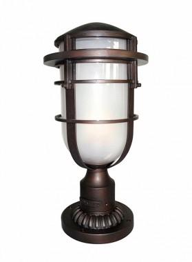 Bronze Nautical Contemporary Pillar Light 58cm