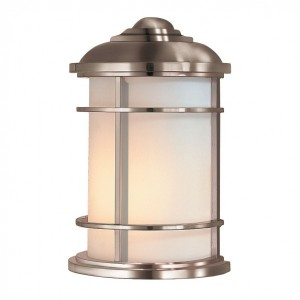"""Nash Point"" Coastal Inspired Half Flush Wall Lantern"