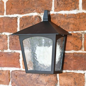 Oxford Traditional Flush Outdoor Half Wall Lantern