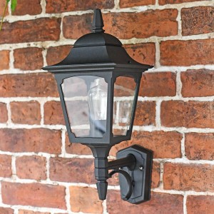 """Tattershall"" Traditional Black Wall Lantern"
