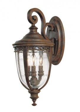 """Sandyway"" Medium Traditional Top Fix Bronze Wall Lantern"
