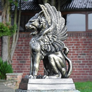 Cast Aluminium Cat Griffin Sculpture
