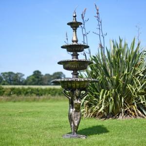 4 Tier Mermaid Garden Fountain