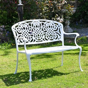 Traditional Garden Bench Created From Cast Aluminium