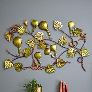 Green Floral Gourd Wall Art