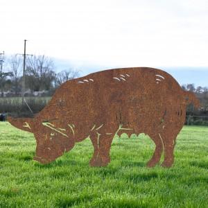 Rustic Female Pig Silhouette