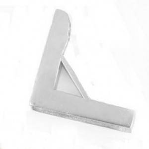 Bright Chrome Small Unhinged Triangle Bracket